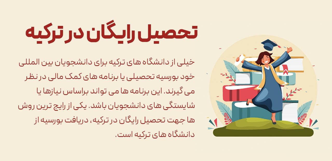 درخواست بورسیه تحصیلی دانشگاه ترکیه